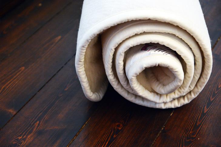 Yogamatten-Schurwolle-kurzflorig